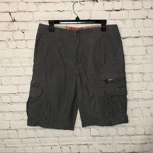 UnionBay Men's Grey Cargo Pocket Zipper Shorts